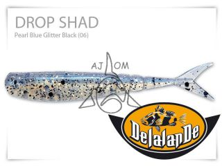 Drop Shad 7cm Pearl Blue Glitter Black